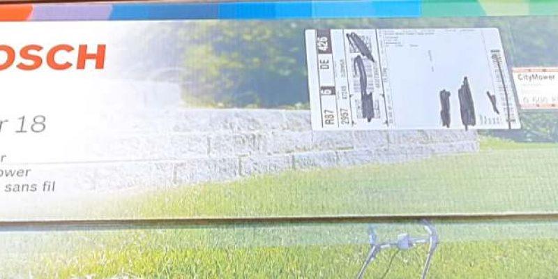 Recenze aku sekačky na trávu Bosch CityMower 18-300